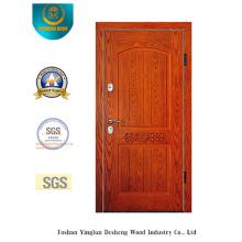 Porta de segurança estilo europeu simplificado com escultura (E-1007)