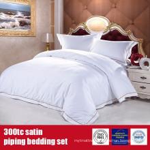 100%Cotton 300TC Satin EMB Bedding Set Hotel Grade Bed Linen