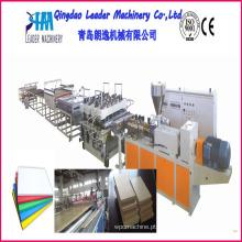 Linha de produção da folha da espuma de WPC, máquina da produção da folha da espuma de WPC