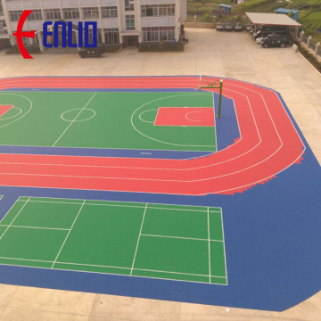 Mudah Dipasang Modular Basketball Court Tiles Flooring
