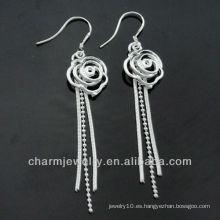 La venta al por mayor mezcló los estilos 925 mujeres lindas de plata de los estilos cuelga los pendientes ESA-009