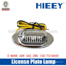 Offroad License plate lamp with E-MARK truck license plate lamp number plate light