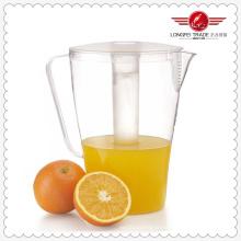 Pichet à jus de plastique avec tube de glace (LFR4373)