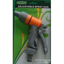 Pulvérisateur de jardin réglable plastique ABS pistolet de pulvérisation de l'eau pour le jardinage