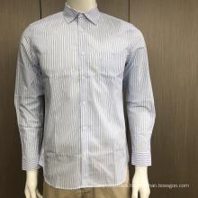 Male yarn dyed stripe shirt