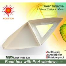 A Triangle Fast Food Packaging com a janela anti-fog