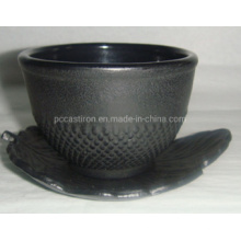 High Quality Printed Cast Iron Cup with Saucer