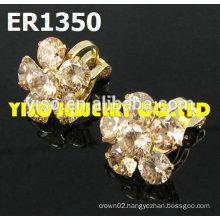 flower designs crystal earrings