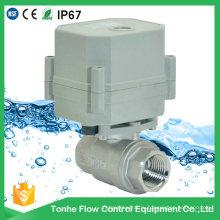 DN15 230V Клапан из нержавеющей стали Ss304 Электромеханические шаровые краны