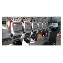QS-1206C  6 Heads Computerized Embroidery Machine Dahao Computer for T shirt logo label hat Embroidery Machine