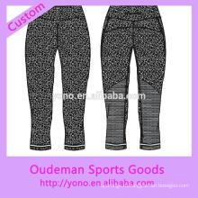 Пользовательские сублимации печатных узкие брюки йоги леггинсы