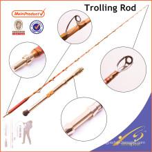 GMR014 258 cm personalizado fibra de vidro sólido big game vara de pesca
