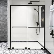 Seawin aluminum Frame 304 stainless steel Rollers Bathroom sliding Shower Door