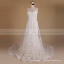 Graceful Fairy Sweet Heart A-line Zhongshan Wedding Dress Handmade Flowers