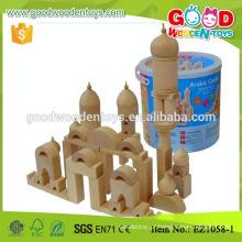 EZ1058 Conjunto de blocos de construção do castelo árabe EZ1058 Natural Color Fantasy