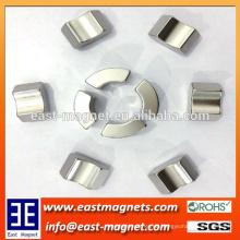 Ni-beschichtetes hochwertiges Arc-Segment Neodym-Magnet im Motor verwendet