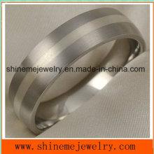 Shineme Schmuck Echt Silber Inlay Schmuck Titanium Ring (TR1833)