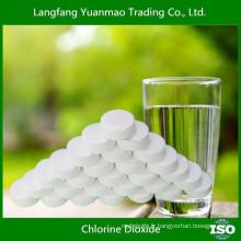 Purification de l'eau saine avec la tablette de dioxyde de chlore
