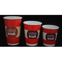 Двухслойная бумажная чашка для кофе