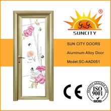 Precios de puerta de cristal de marco de aleación de aluminio de estilo moderno (SC-AAD051)