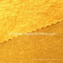 Cânhamo / orgânico algodão tingido escovado velo (QF13-0405)