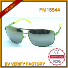 Унисекс металлические солнцезащитные очки с Зеркало объектива оптом в Китае