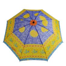 billiger zweifach bedruckter Regenschirm