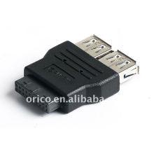 Placa principal 20pin to 2ports USB3.0 convertor (adaptador)