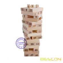 Klassische Tumbling Blocks, Jenga Board Game Teambuilding Blöcke Kids