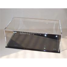 Einzelhandel Store Custom Clear Acryl Top Metall Basis Arbeitsplatte Wasserdichte Baseball Hat Display Case