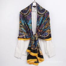High Quality Fashion Women Beach Scarf Summer Colorful Twill Polyester Silk Turkey Scarves