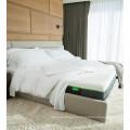 Mão de seda por atacado de alta qualidade que sente 300 folhas de cama de bambu brancas da contagem da linha