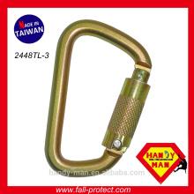 Parada de outono Fabricante CE EN362 Aço Classic D Large Lock Safe Carabiner