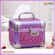 Purple Metal Makeup Box Designer Makeup Case Set (SACMC072)