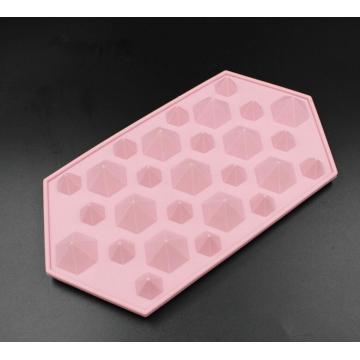 Fancy Diamond Shape Silicone Ice Candy Jelly Mould