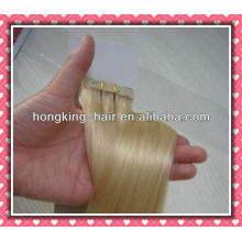blond color remy hair tape weft extension