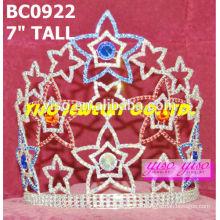 Couronnes et tiaras de cristal d'étoiles de beauté