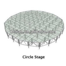 Indoor and outdoor show anti-transparent glass stage portable stage