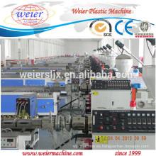 WPC squar registra perfil producción máquina línea
