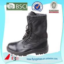 Balck afiado couro genuíno militar botas para o exército