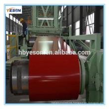 Bobina de acero GI prepintada / PPGI / PPGL / color recubierto hoja de acero galvanizado en bobina