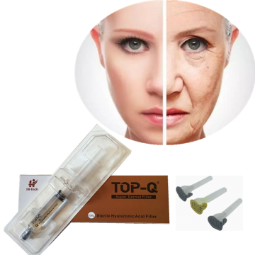 Korea facial filler seringue préremplie d'acide hyaluronique injectable dermal filler pour front rides