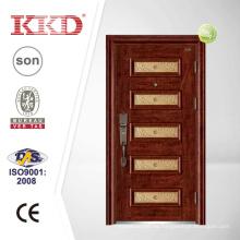Puerta de acero de la seguridad KKD-903 con aluminio parte de empalme
