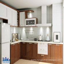 Cheap Brown Color PVC Finishing Kitchen Cabinets