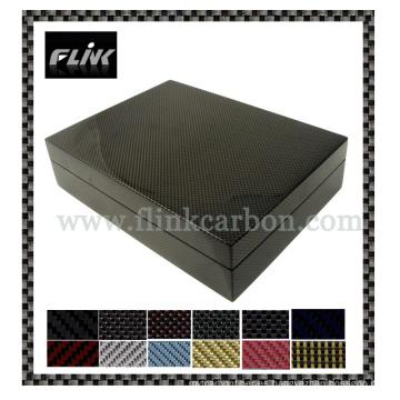 Caja de regalo de fibra de carbono (joyas, reloj, etc)