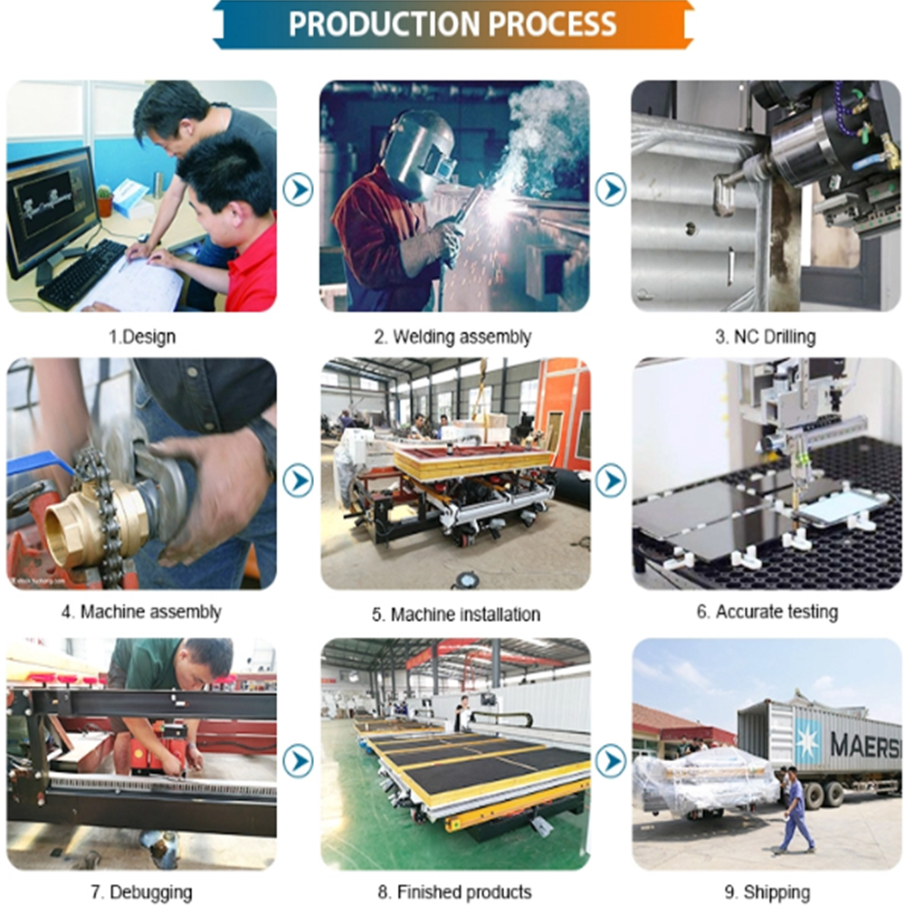 Production procress of upvc window machine