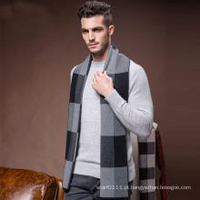 Homens Moda Inverno Lã De Nylon Acrílico Tecido Quente Scarf (YKY4602)