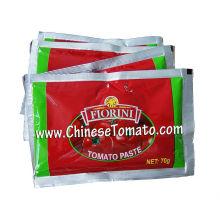 Pasta de tomate 70 G Fiorini Brand Sachet de 2016 New Crop Double Concentrated Tomato