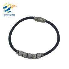 Kundenspezifisches Armband-einzelner Edelstahl für Frauen-Armband entwirft neuen Art-preiswerten Großverkauf