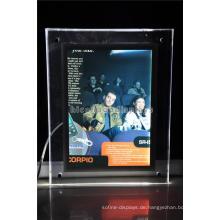 Einzelhandel Store Einfache Kurfürstliche Beleuchtung Werbung Tischplatte Kleine Größe Portable Signage Display